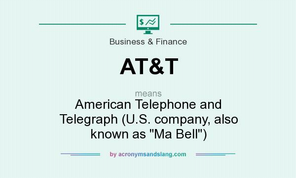 What does AT&T mean? It stands for American Telephone and Telegraph (U.S. company, also known as Ma Bell)