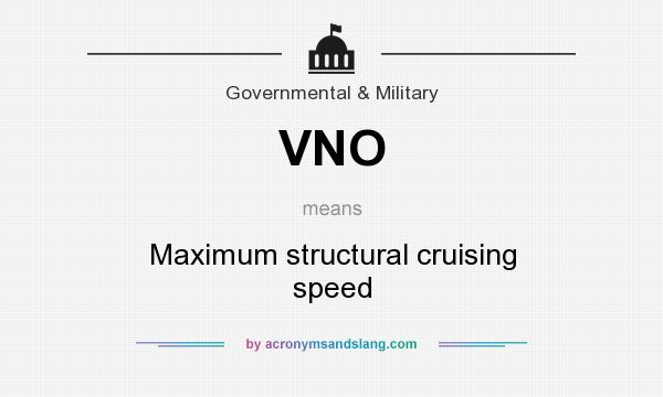 VNO - Maximum structural cruising speed in Governmental