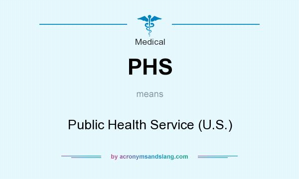 What does PHS mean? It stands for Public Health Service (U.S.)