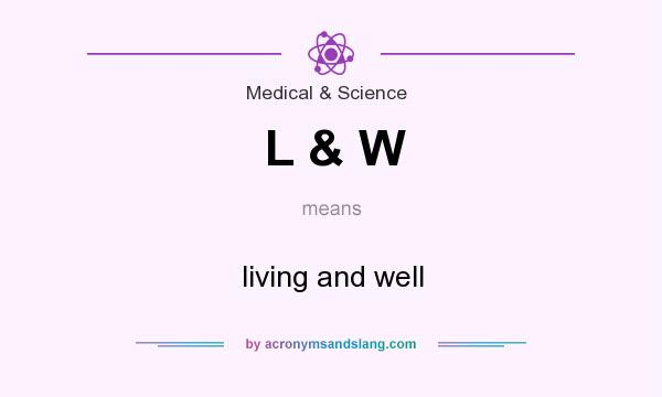 What does L & W mean? It stands for living and well