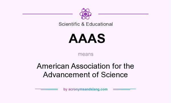 What does AAAS mean? It stands for American Association for the Advancement of Science
