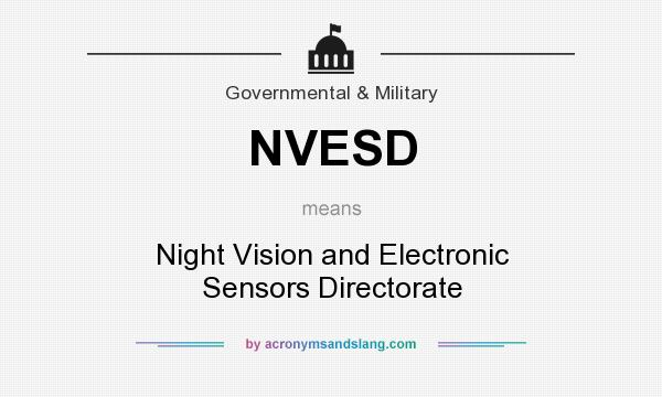 What does NVESD mean? It stands for Night Vision and Electronic Sensors Directorate