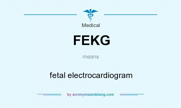 What does FEKG mean? It stands for fetal electrocardiogram