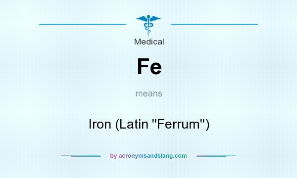 What does Fe mean? It stands for Iron (Latin ``Ferrum``)
