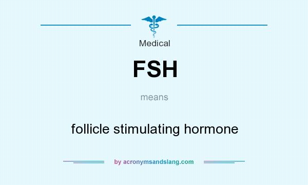 What does FSH mean? It stands for follicle stimulating hormone
