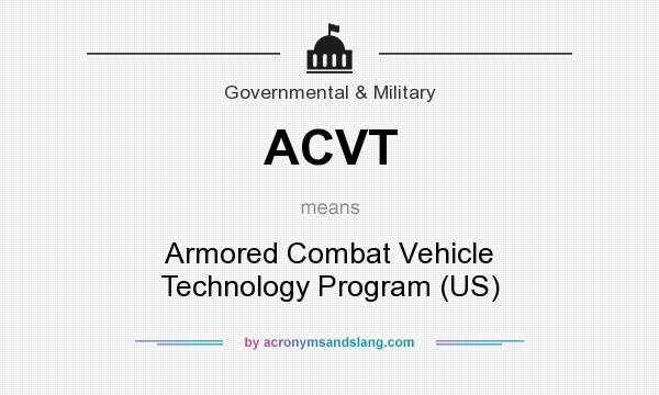 What does ACVT mean? It stands for Armored Combat Vehicle Technology Program (US)