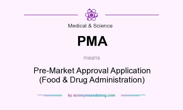 What does PMA mean? It stands for Pre-Market Approval Application (Food & Drug Administration)