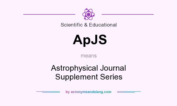 What does ApJS mean? It stands for Astrophysical Journal Supplement Series