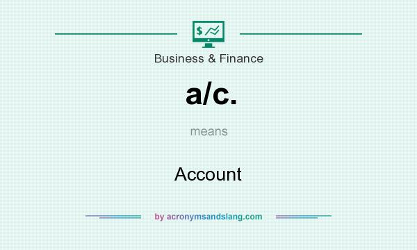 What does a/c. mean? It stands for Account
