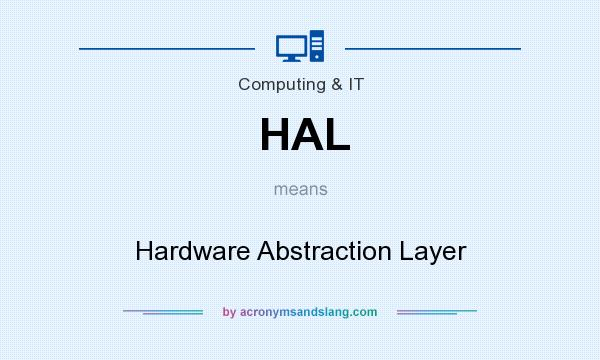 What does HAL mean? It stands for Hardware Abstraction Layer