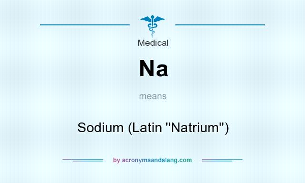 What does Na mean? It stands for Sodium (Latin ``Natrium``)