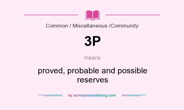 What does 3P mean? It stands for proved, probable and possible reserves