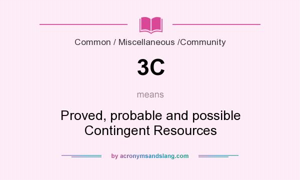 What does 3C mean? It stands for Proved, probable and possible Contingent Resources