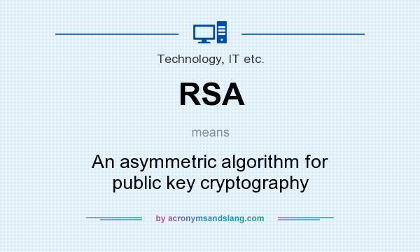 RSA - An asymmetric algorithm for public key cryptography in