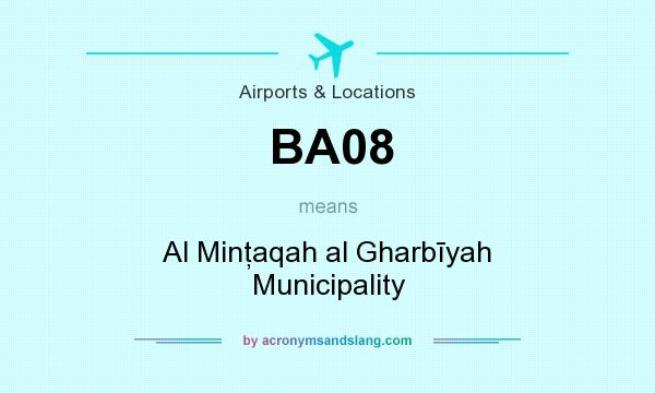 What does BA08 mean? It stands for Al Minţaqah al Gharbīyah Municipality