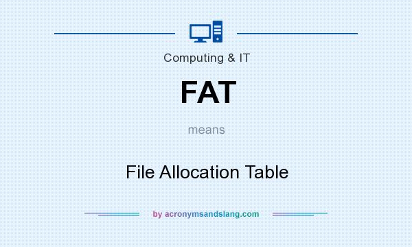 What does FAT mean? It stands for File Allocation Table
