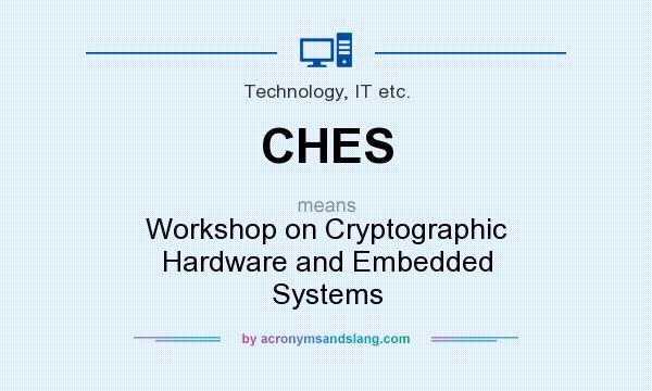 What does CHES mean? It stands for Workshop on Cryptographic Hardware and Embedded Systems