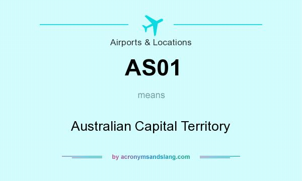 What does AS01 mean? It stands for Australian Capital Territory