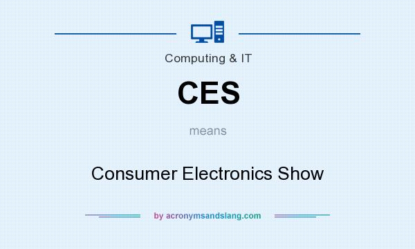 What does CES mean? It stands for Consumer Electronics Show