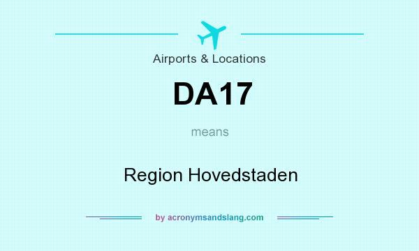 What does DA17 mean? It stands for Region Hovedstaden