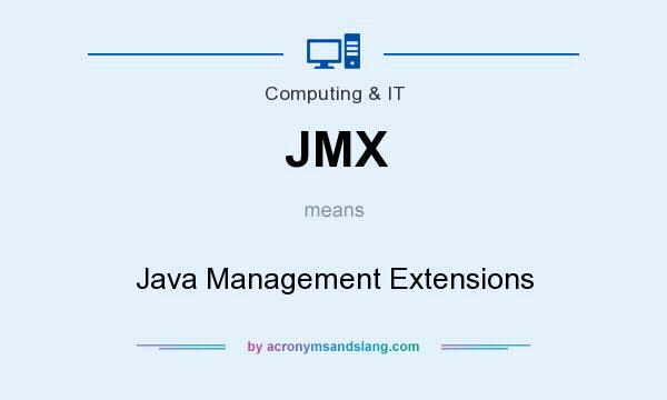 What does JMX mean? It stands for Java Management Extensions