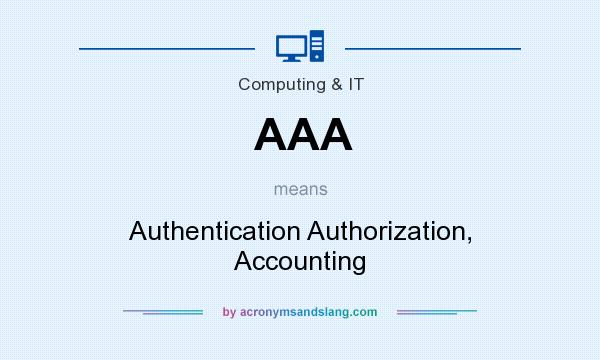 What does AAA mean? It stands for Authentication Authorization, Accounting