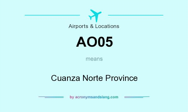 What does AO05 mean? It stands for Cuanza Norte Province
