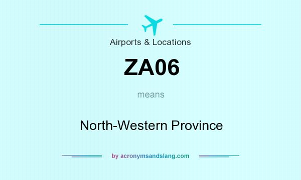 What does ZA06 mean? It stands for North-Western Province