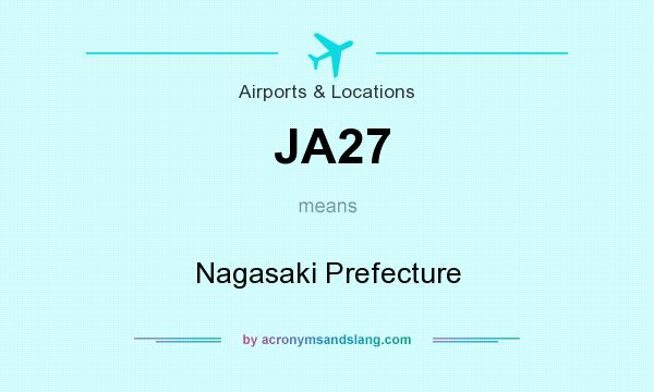 What does JA27 mean? It stands for Nagasaki Prefecture