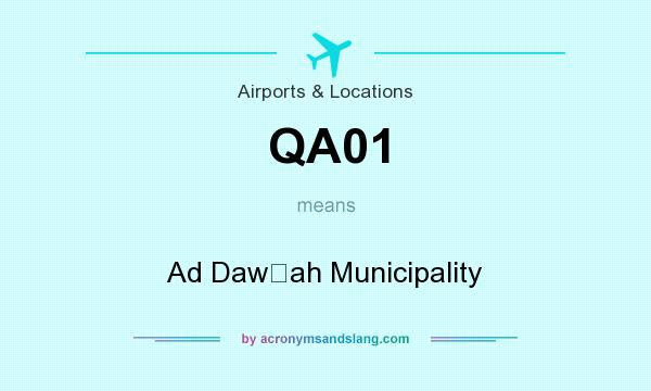 What does QA01 mean? It stands for Ad Dawḩah Municipality