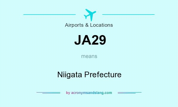 What does JA29 mean? It stands for Niigata Prefecture