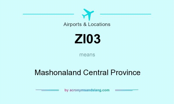 What does ZI03 mean? It stands for Mashonaland Central Province