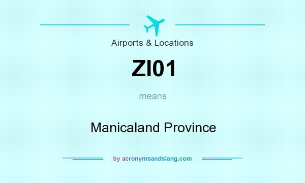 What does ZI01 mean? It stands for Manicaland Province