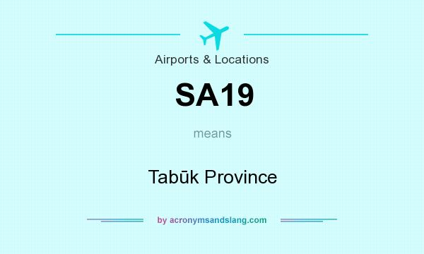 What does SA19 mean? It stands for Tabūk Province