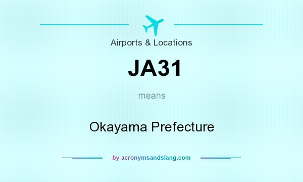 What does JA31 mean? It stands for Okayama Prefecture