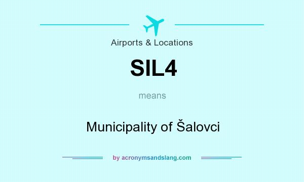 What does SIL4 mean? It stands for Municipality of Šalovci