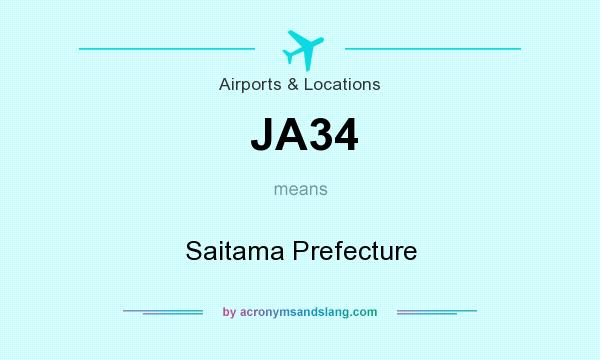 What does JA34 mean? It stands for Saitama Prefecture