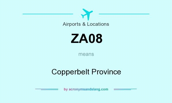 What does ZA08 mean? It stands for Copperbelt Province