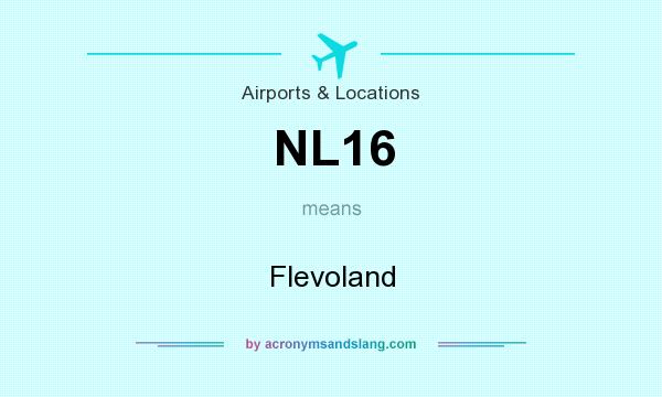 What does NL16 mean? It stands for Flevoland