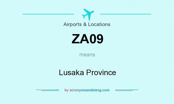 What does ZA09 mean? It stands for Lusaka Province