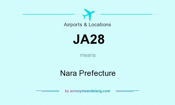 What does JA28 mean? It stands for Nara Prefecture