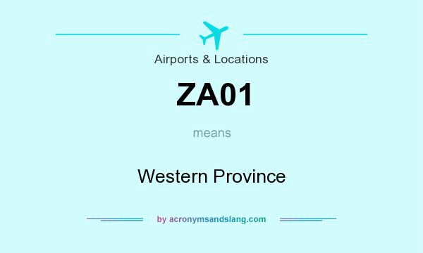 What does ZA01 mean? It stands for Western Province