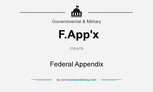 What does F.App`x mean? It stands for Federal Appendix