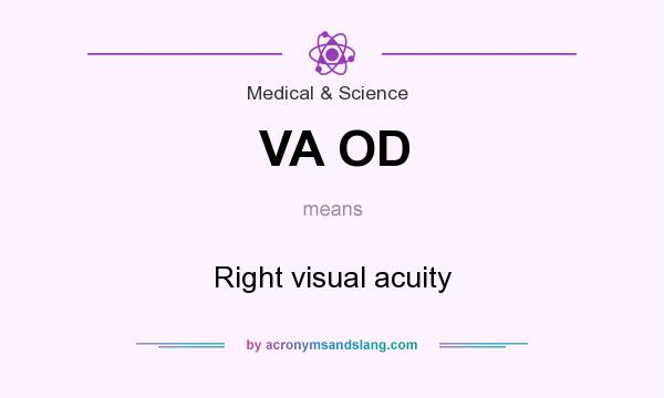 What does VA OD mean? It stands for Right visual acuity