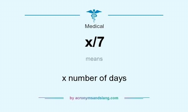 What does x/7 mean? It stands for x number of days
