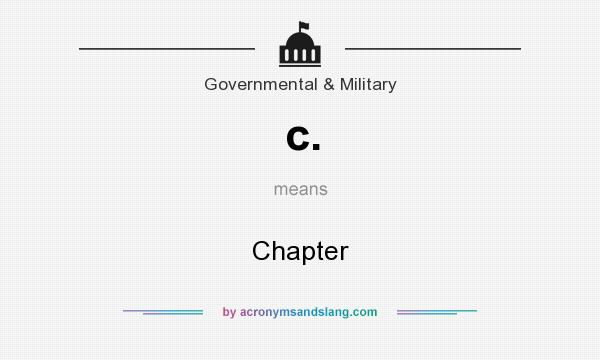 What does c. mean? It stands for Chapter