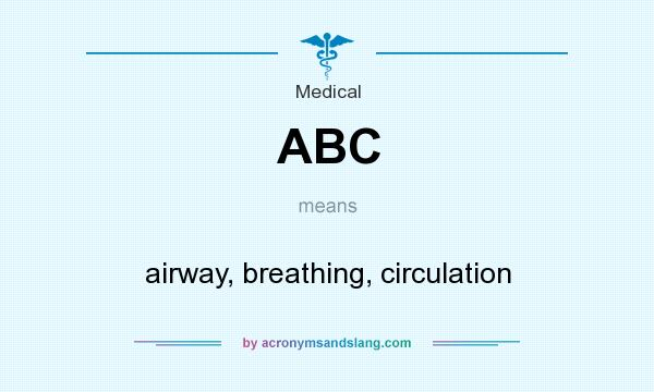What does ABC mean? It stands for airway, breathing, circulation