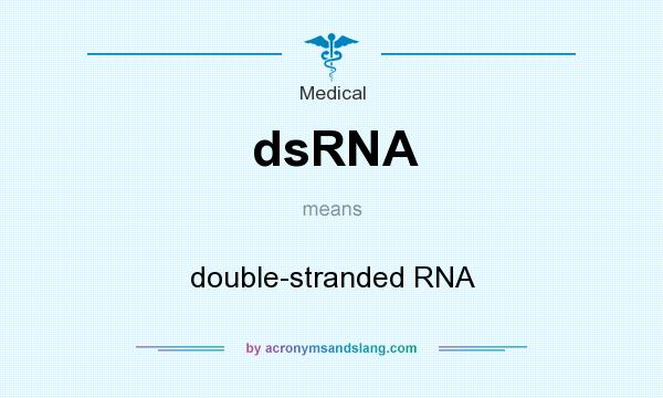 What does dsRNA mean? It stands for double-stranded RNA