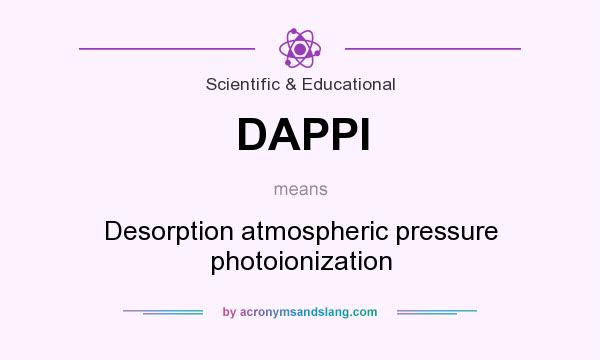 What does DAPPI mean? It stands for Desorption atmospheric pressure photoionization