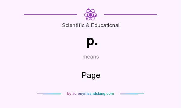 What does p. mean? It stands for Page